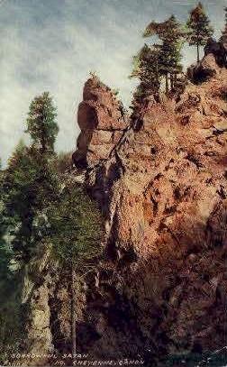 Sorrowful Satan - Cheyenne, Wyoming WY Postcard
