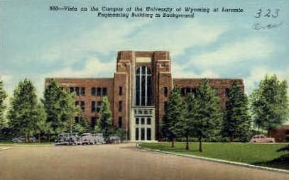 Campus, University of Wyoming - Laramie Postcard