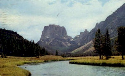 Square Top Mountain - Wind River Range, Wyoming WY Postcard