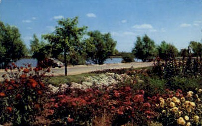 Flower Garden, Lions Park - Cheyenne, Wyoming WY Postcard