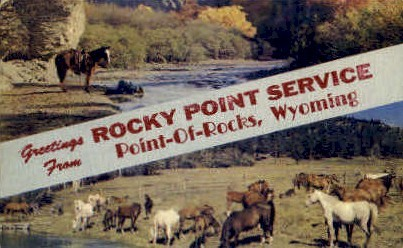 Greetings From - Point-of-Rocks, Wyoming WY Postcard