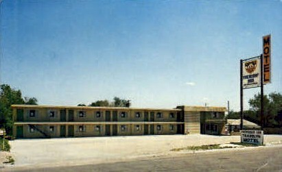 Travelyn Motel - Pine Bluffs, Wyoming WY Postcard