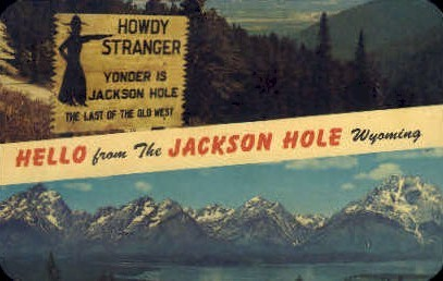 Hello From - Jackson Hole, Wyoming WY Postcard