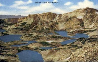 Snowy Range, WY Postcard      ;      Snowy Range, Wyoming