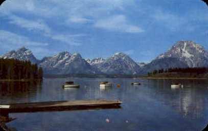 Teton Range & Jackson Lake - Grand Teton National Park, Wyoming WY Postcard