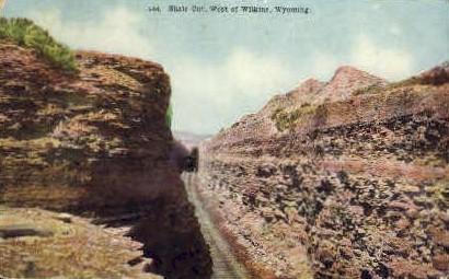 Shale Cut  - Wilkins, Wyoming WY Postcard