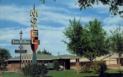 Sun Valley Motel - Worland, Wyoming WY Postcard