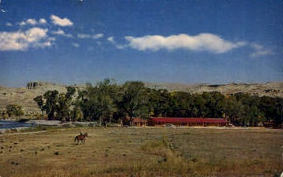 Red Rock Ranch Motel - Dubois, Wyoming WY Postcard