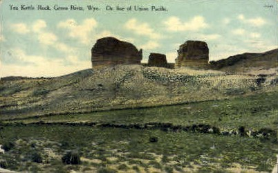 Tea Kettle Rock - Green River, Wyoming WY Postcard