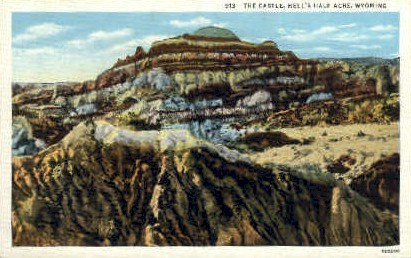 The Castle - Hell's Half Acre, Wyoming WY Postcard