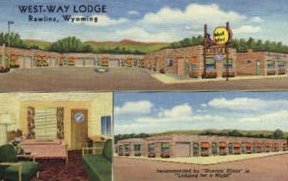 West-Way Lodge - Rawlins, Wyoming WY Postcard