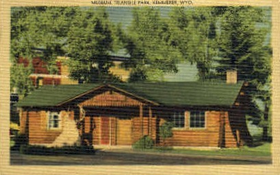 Museum, Triangle Park - Kemmerer, Wyoming WY Postcard