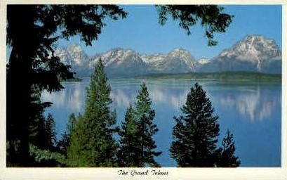 The Grand Tetons - Grand Teton National Park, Wyoming WY Postcard