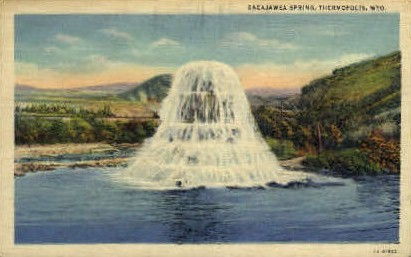 Sacajawea Spring - Thermopolis, Wyoming WY Postcard
