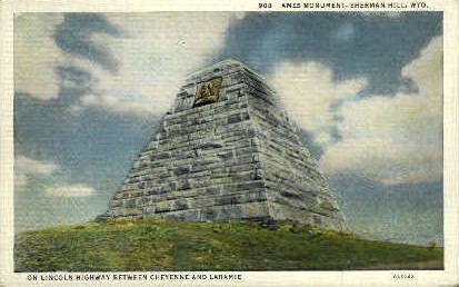 Ames Monument - Sherman Hill, Wyoming WY Postcard