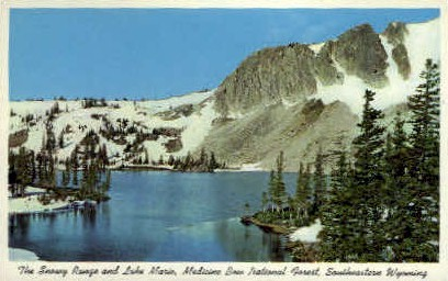 Snowy Range & Lake Marie - Medicine Bow National Forest, Wyoming WY Postcard