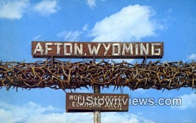 Elk Horn Arch - Afton, Wyoming WY Postcard