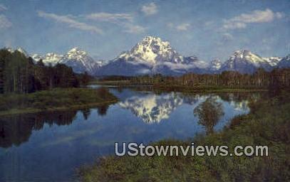 Mt. Moran - Grand Teton National Park, Wyoming WY Postcard