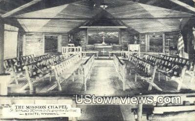 Mission Chapel - Ethete, Wyoming WY Postcard