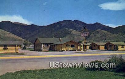 Corral Motel - Afton, Wyoming WY Postcard