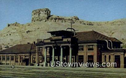 Union Pacific Depot - Green River, Wyoming WY Postcard