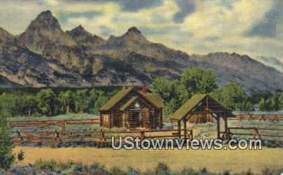 Church of the Transfiguration - Jackson Hole, Wyoming WY Postcard