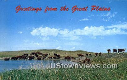 Great Plains, WY, Wyoming, Postcard