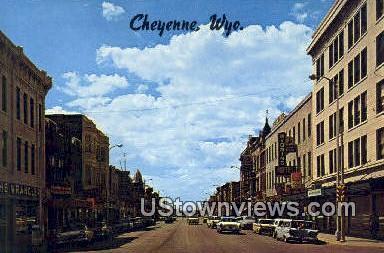 Sixteenth Street - Cheyenne, Wyoming WY Postcard