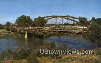 Old Army Bridge, 1875 - Fort Laramie, Wyoming WY Postcard