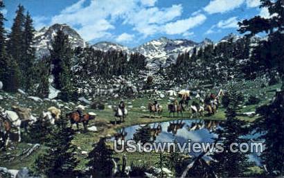 Wind River Range - Pinedale, Wyoming WY Postcard
