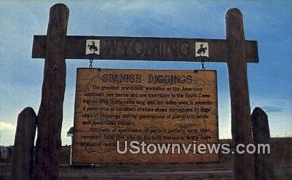 Spanish Diggins - Douglas, Wyoming WY Postcard