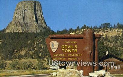 . - Devil's Tower National Monument, Wyoming WY Postcard