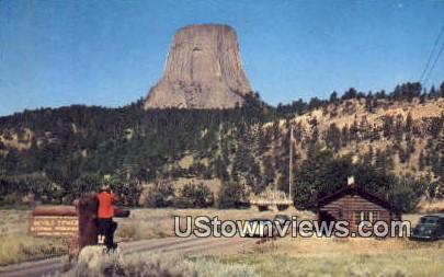 Devils Tower, WY, Wyoming, Postcard