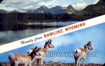 Rawlins, WY, Wyoming, Postcard