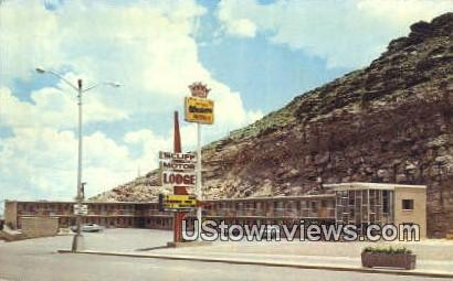The Cliff Motor Lodge - Rawlins, Wyoming WY Postcard