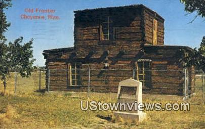 Jim Baker's Cabin - Frontier Park, Wyoming WY Postcard