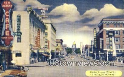 Capitol Ave - Cheyenne, Wyoming WY Postcard