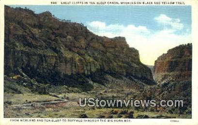 Ten Sleep Canon - Buffalo, Wyoming WY Postcard