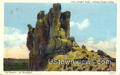 Teapot Rock - Casper, Wyoming WY Postcard