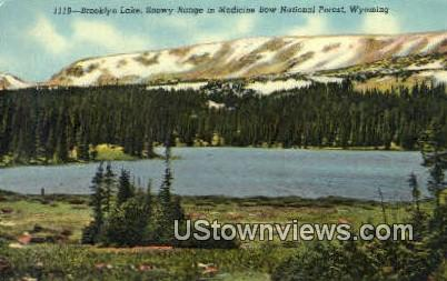 Brooklyn Lake - Medicine Bow National Forest, Wyoming WY Postcard