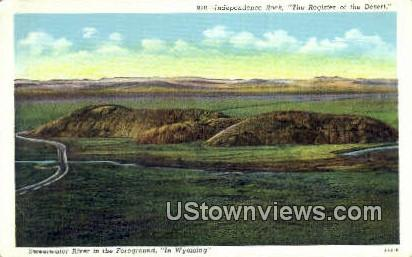 Independence Rock - Rawlins, Wyoming WY Postcard