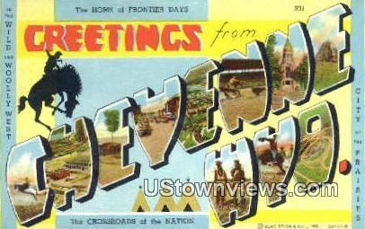 Cheyenne, Wyoming, WY Postcard