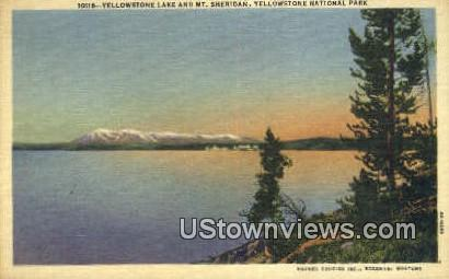 Yellowstone Lake - Yellowstone National Park, Wyoming WY Postcard