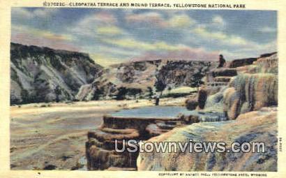Cleopatrat Terrace - Yellowstone National Park, Wyoming WY Postcard