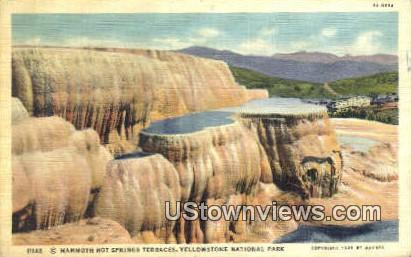 Mammoth Hot Springs - Yellowstone National Park, Wyoming WY Postcard