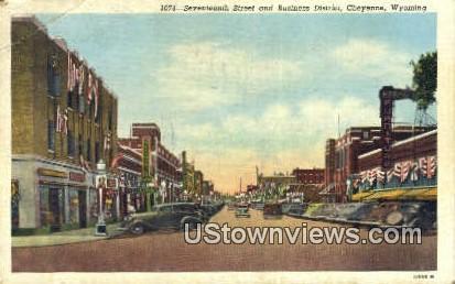 Seventeenth St - Cheyenne, Wyoming WY Postcard