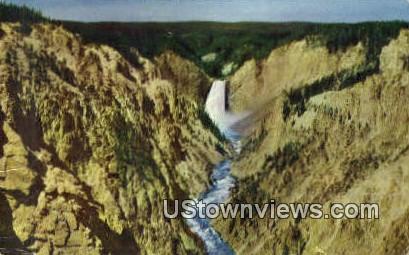 Yellowstone Falls - Yellowstone National Park, Wyoming WY Postcard