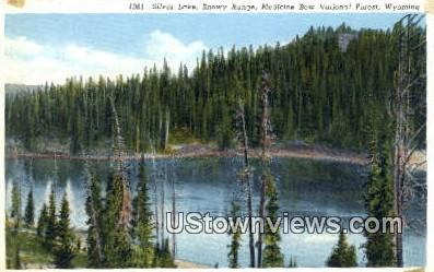 Silver Lake - Medicine Bow National Forest, Wyoming WY Postcard
