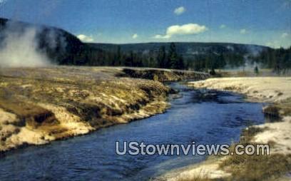 Upper Geyser Basin - Yellowstone National Park, Wyoming WY Postcard