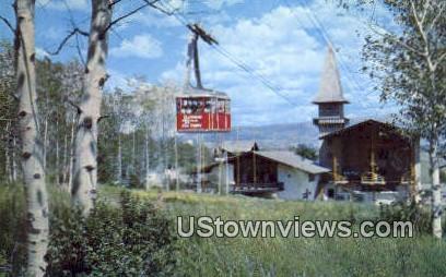 Aerial Tram - Jackson Hole, Wyoming WY Postcard